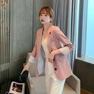網紅小西裝外套女2021年新款春秋韓版寬鬆薄款炸街垂感西服女上衣 依凡卡時尚