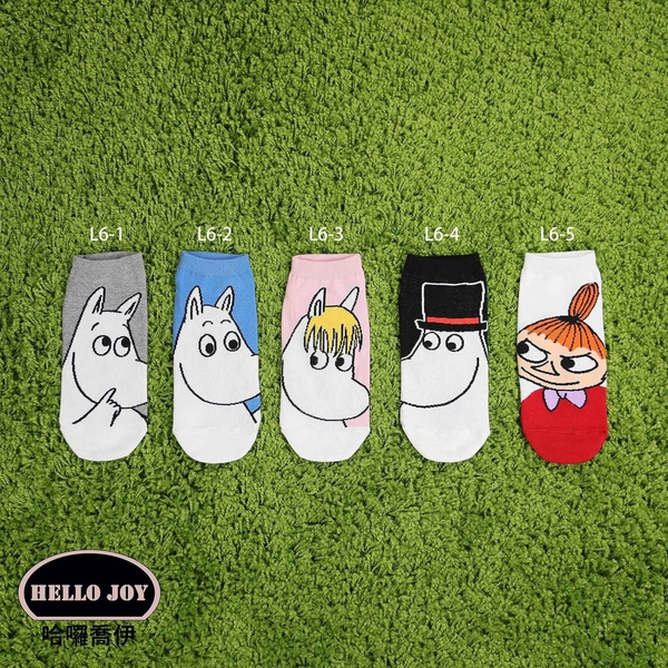 【正韓直送】嚕嚕米短襪 韓國襪子 船襪 韓襪 女襪 直板襪 小不點 MOOMIN 韓妞必備 哈囉喬伊 L6
