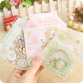 日韓角落墻角生物貼紙 紙質卡通可愛貼紙包diy手賬日筆記裝飾貼畫