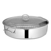 鍋蒸鍋橢圓蒸魚鍋大號家用加厚不銹鋼38cm蒸鍋1層一層長形蒸魚鍋鍋具 鍋WY 一件82折