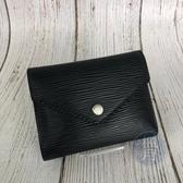 BRAND楓月 LOUIS VUITTON LV M62173 EPI 黑色 皮革 三折 短夾 錢包 錢夾