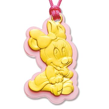 迪士尼系列金飾-寶寶黃金鎖片音樂盒-如意美妮款