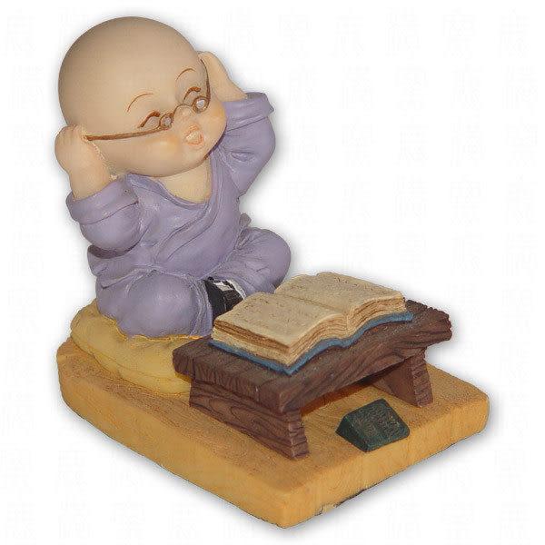 小沙彌公仔,小四喜-坐讀、夜讀、背書、頌經共4款 物品清單:1套4尊NT$1000元