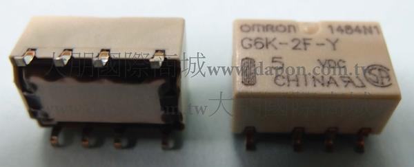 *大朋電子商城*OMRON G6K-2F-Y-5VDC 繼電器Relay(5入)