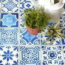 地板貼紙 自黏地板專用獨創貼紙 藍色 黑色 黃色 磚紋 FL-TILE 尺寸65cm × 1m