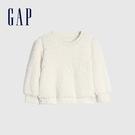 Gap女幼童 保暖仿羊羔絨圓領休閒上衣 656552-象牙白
