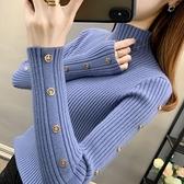 半高領加厚毛衣女內搭修身純色長袖短款針織打底衫女秋冬新款 小山好物