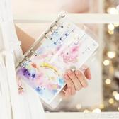 手賬本套裝ins少女心手賬本日記活頁本筆記本子獨角獸手帳本記事本旅行套裝