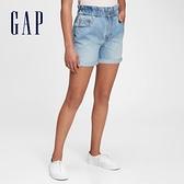 Gap女童 純棉水洗卷邊牛仔短褲 679599-淺色水洗