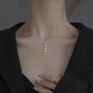 項鍊 純銀星星項鍊輕奢小眾2021年新款女鎖骨鍊設計感2021簡約裝飾品 晶彩 99免運