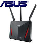 【雙頻穿牆款】Asus AC2900 雙頻 Gigabit無線路由器 AC86U
