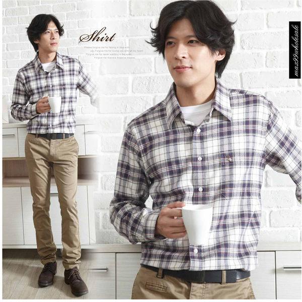 【大盤大】(S10512)男 純棉襯衫 長袖襯衫 格子襯衫 法蘭絨襯衫 零碼2XL號 休閒衫 有加大尺寸