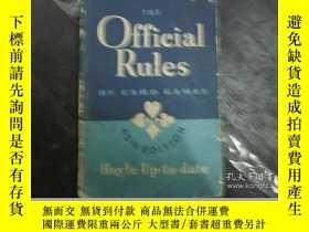 二手書博民逛書店official罕見rules of card games紙牌遊