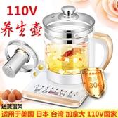110V伏多功能電煮鍋 玻璃杯養生壺 出口美國電熱水壺 學生電熱鍋 范思蓮恩