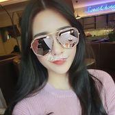 韓版百搭太陽鏡偏光太陽眼鏡紫外線個性時尚墨鏡女新款    卡菲婭
