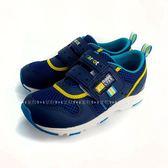 日本月星MOONSTAR 魔鬼氈透氣機能學步鞋 《7+1童鞋》B450藍色