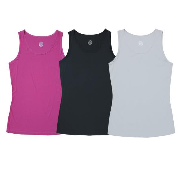 [Mountneer] 女排汗透氣背心內衣 - 黑、淺灰、紫紅 (11K72)