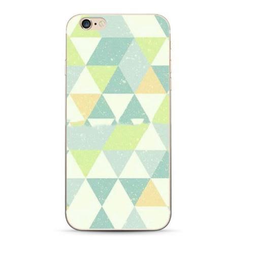 蘋果 iPhone 7/8 i7 軟殼 彩繪 浮雕 彩色塊 流行 創意 保護套 手機殼 幾何 條紋 棋盤 潮