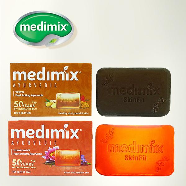 印度 Medimix Ayurvedic 草本番紅花/岩蘭草 美膚皂 125g 兩款可選 美肌皂 香皂 沐浴皂【PQ 美妝】