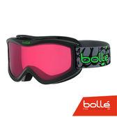 法國 Bolle VOLT 兒童款 雙層鏡片設計 防霧雪鏡 黑塗鴉/朱紅 #21511