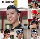 廚師帽 酒店廚房餐廳工作帽 checkedout飄帶帽 男女 服務員工作帽