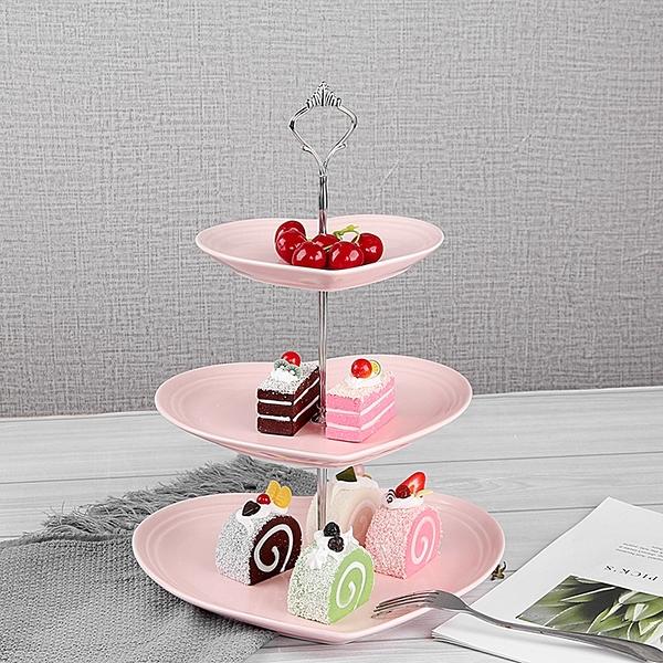 降價兩天 歐式陶瓷三層水果盤 甜品台 多層蛋糕架 干果盤 茶點心生日托盤