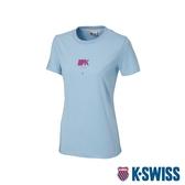 K-SWISS Short Sleeve T-Shirts印花短袖T恤-女-藍
