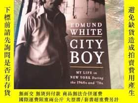 二手書博民逛書店英文原版:City罕見Boy my life in new yo