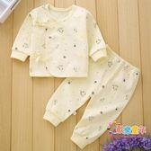 新生兒衣服棉質0-3個月6女寶寶秋衣褲冬保暖初生男嬰兒和尚服套裝