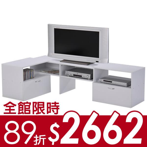 下殺 LS-11組合伸縮電視櫃 高低櫃 層架 收納 *可變換* 多樣組合 DIY 台灣製造!! 二色
