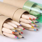 文具 紙筒色鉛筆12色(盒蓋附削鉛筆機)...