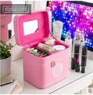 大容量化妝包雙層多功能大號手提化妝品箱...