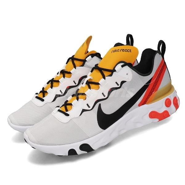 【六折特賣】Nike 慢跑鞋 React Element 55 白 黑 男鞋 運動鞋 【PUMP306】BQ6166-102