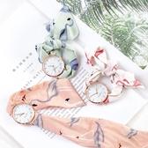 韓版時尚簡約潮流手錶學生小清新女士腕錶布帶綁絲帶石英錶女錶 〖korea時尚記〗