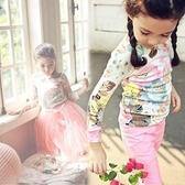 輕柔抓皺印花上衣 (不含澎澎裙) 女童 兒童 橘魔法 Baby magic 現貨 童裝