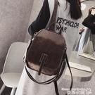 皮革後背包 ins超火後背包女小包2021新款韓版軟皮質時尚簡約百搭上班小背包 曼慕