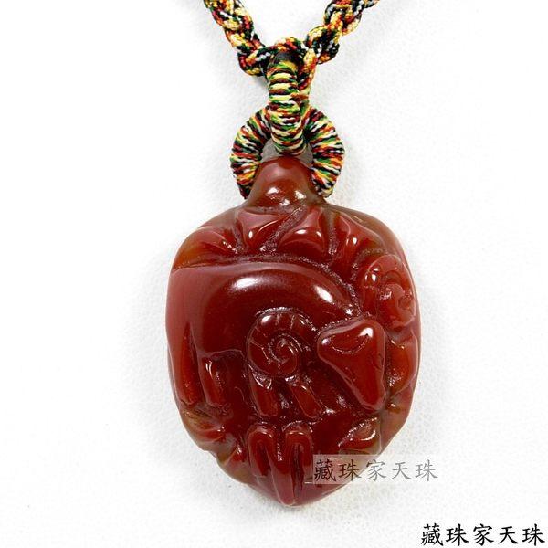 《藏珠家天珠》十二星座-- 牡羊座天珠項鍊
