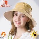 【ActionFox 挪威 女 抗UV抗菌遮陽帽《黃》】630-5273/漁夫帽/防曬帽/休閒帽