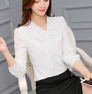 襯衫 新款韓版女裝百搭襯衣長袖打底白襯衫...