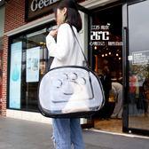 寵物背包透明貓包太空艙狗包貓箱貓籠子便攜外出包可折疊透氣貓包BL 免運直出 交換禮物