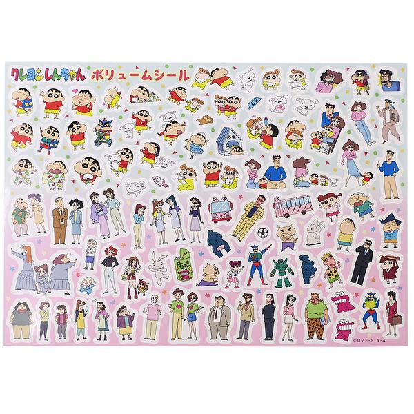 Small Planet 日本製卡通圖案貼紙 手帳貼 裝飾貼 蠟筆小新 大集合_DP50351