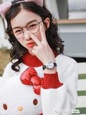 兒童手錶只看時間女童小學生可愛卡通貓咪圖案公主粉色指針石英錶 奇妙商鋪
