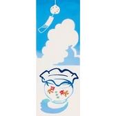 【日本製】【和布華】 日本製 注染拭手巾 金魚缸與風鈴圖案 SD-5023 - 和布華