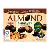 明治70%杏仁黑巧克力(盒裝) 【康是美】