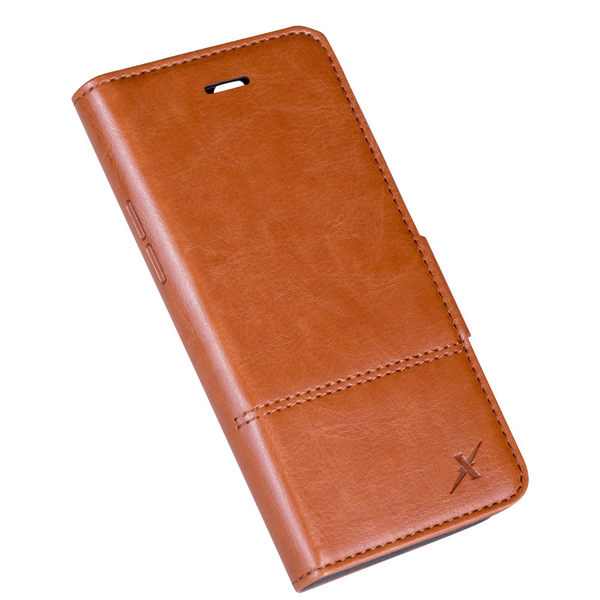 Moxie X-Shell iPhone 7 / iPhone 8 皮革質感防電磁波手機套/ 復古駝
