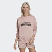X-adidas Original Sweatshirt 女裝 長袖 大學T 休閒 粉 EC0746
