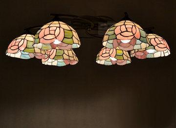 吸頂燈歐式田園多頭客廳燈具
