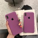 ins網紅純色液態xs maxiPhonex手機殼iPhone7/8plus情侶矽膠軟套6s