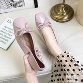 單鞋女瓢鞋2019夏季新款仙女鞋溫柔平底復古方頭淺口鞋子 JY8337【潘小丫女鞋】