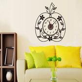 時鐘壁貼 創意蘋果形狀 教室裝潢佈置 牆貼壁紙貼紙【YV0010】BO雜貨